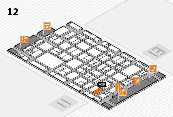 MEDICA 2016 hall map (Hall 12): stand A09