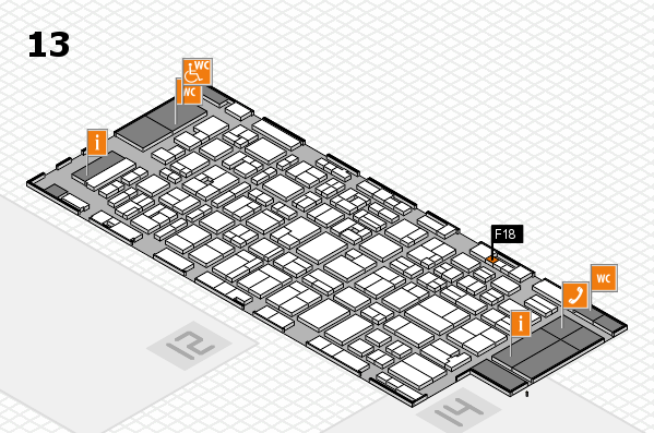 MEDICA 2016 hall map (Hall 13): stand F18