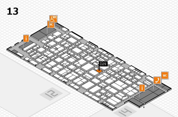 MEDICA 2016 hall map (Hall 13): stand D29