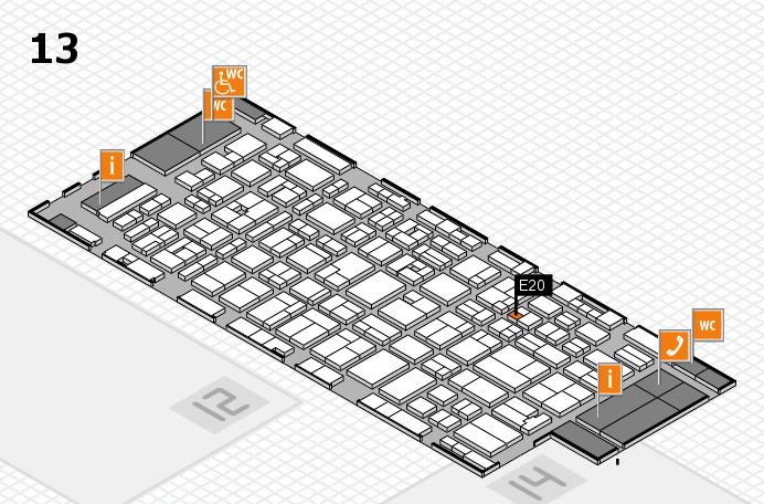 MEDICA 2016 hall map (Hall 13): stand E20