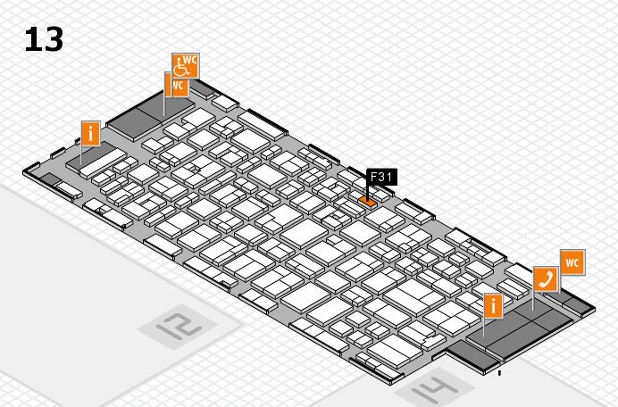 MEDICA 2016 hall map (Hall 13): stand F31