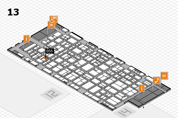 MEDICA 2016 hall map (Hall 13): stand B55
