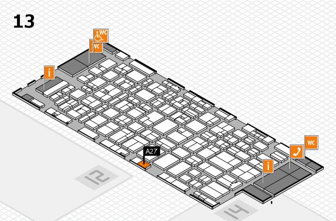 MEDICA 2016 hall map (Hall 13): stand A27