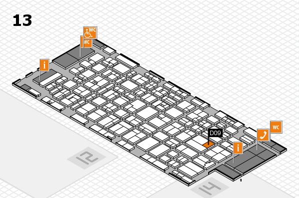 MEDICA 2016 hall map (Hall 13): stand D09