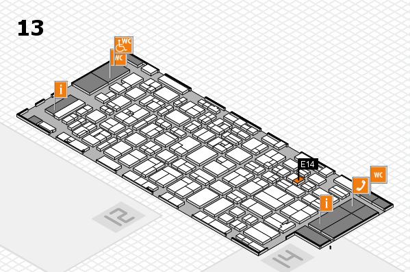 MEDICA 2016 hall map (Hall 13): stand E14