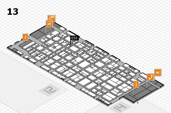 MEDICA 2016 hall map (Hall 13): stand E53