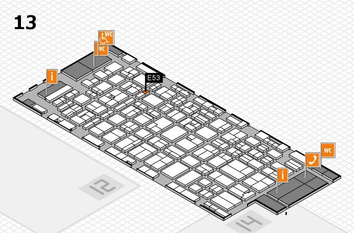 MEDICA 2016 Hallenplan (Halle 13): Stand E53