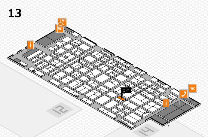 MEDICA 2016 hall map (Hall 13): stand C21