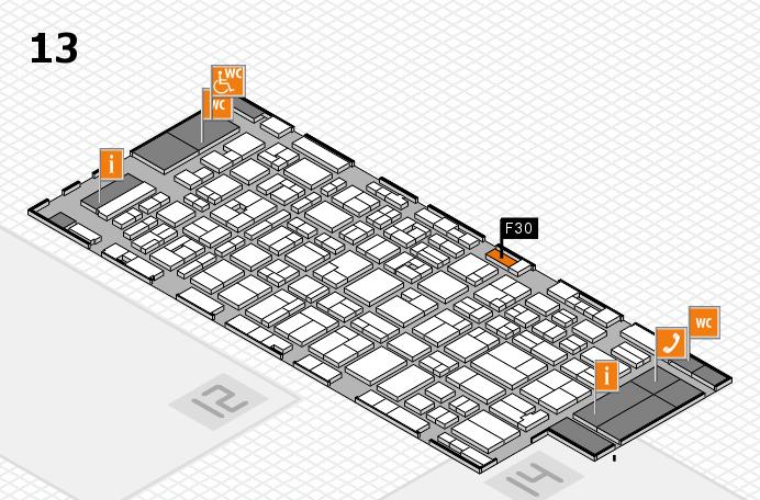 MEDICA 2016 hall map (Hall 13): stand F30