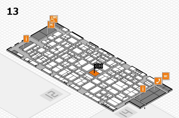 MEDICA 2016 hall map (Hall 13): stand C30