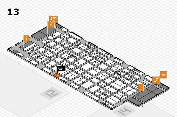 MEDICA 2016 hall map (Hall 13): stand A41