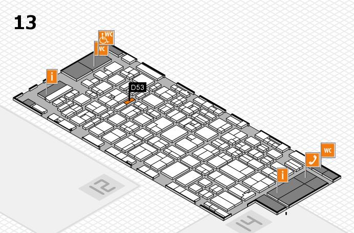MEDICA 2016 hall map (Hall 13): stand D53