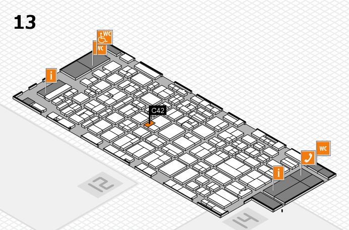 MEDICA 2016 hall map (Hall 13): stand C42