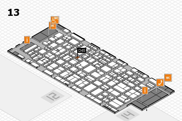MEDICA 2016 hall map (Hall 13): stand D45