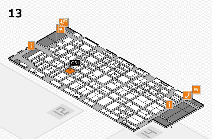 MEDICA 2016 hall map (Hall 13): stand C51