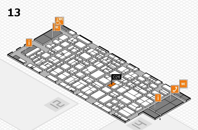MEDICA 2016 hall map (Hall 13): stand C26