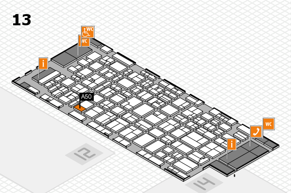 MEDICA 2016 hall map (Hall 13): stand A50