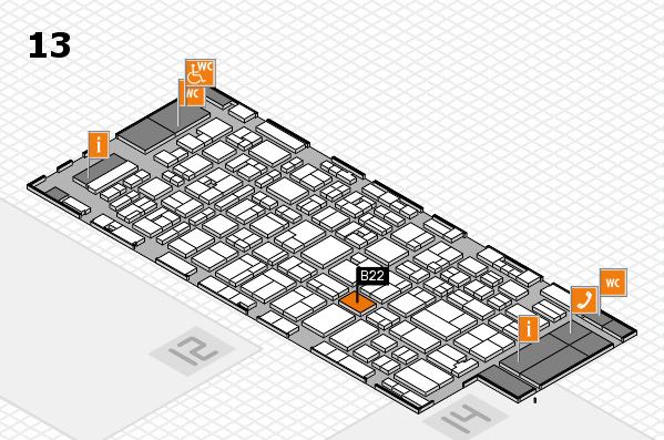 MEDICA 2016 hall map (Hall 13): stand B22