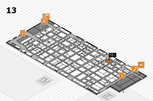 MEDICA 2016 hall map (Hall 13): stand F21