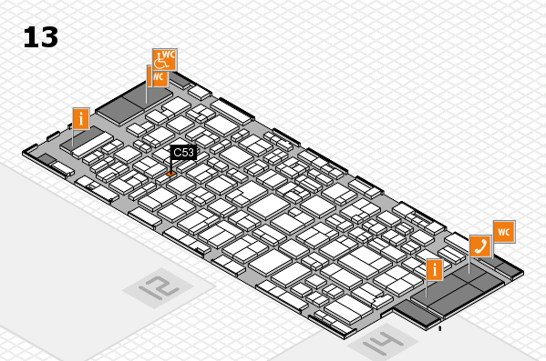 MEDICA 2016 Hallenplan (Halle 13): Stand C53