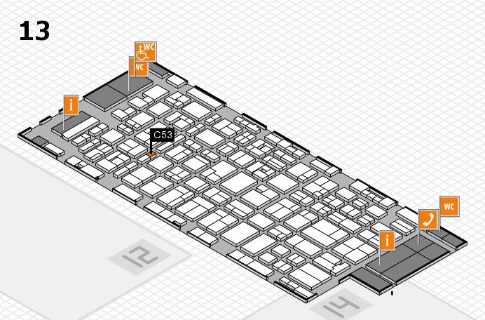 MEDICA 2016 hall map (Hall 13): stand C53