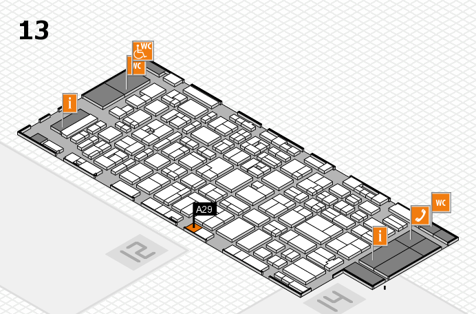 MEDICA 2016 hall map (Hall 13): stand A29