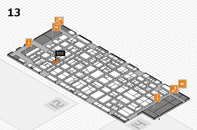 MEDICA 2016 hall map (Hall 13): stand B56