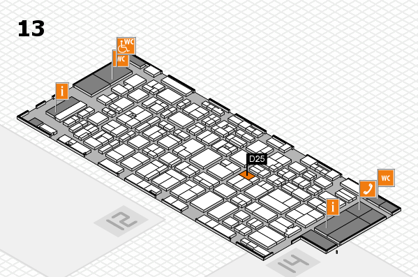 MEDICA 2016 hall map (Hall 13): stand D25