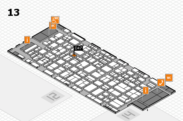 MEDICA 2016 hall map (Hall 13): stand D47