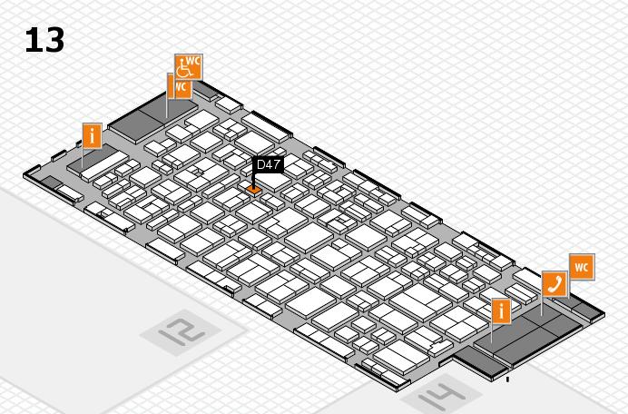 MEDICA 2016 Hallenplan (Halle 13): Stand D47