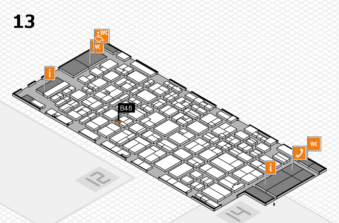 MEDICA 2016 hall map (Hall 13): stand B46