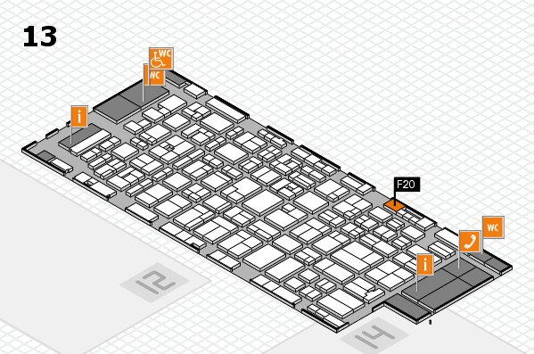 MEDICA 2016 hall map (Hall 13): stand F20