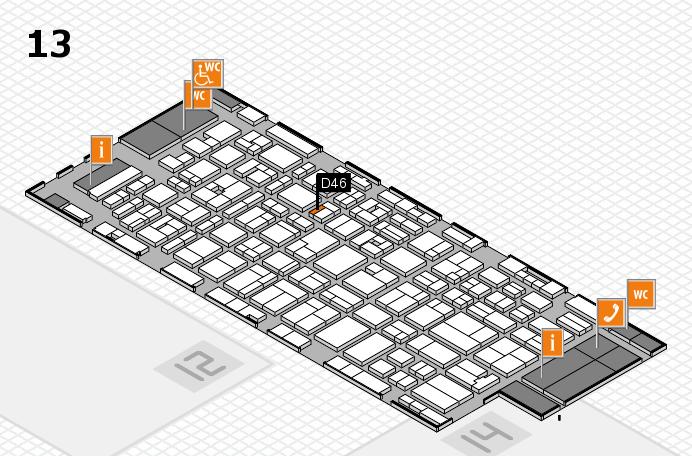 MEDICA 2016 hall map (Hall 13): stand D46