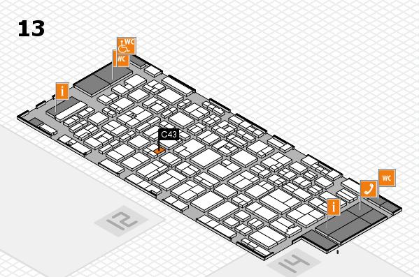 MEDICA 2016 hall map (Hall 13): stand C43