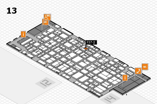 MEDICA 2016 hall map (Hall 13): stand F37-2
