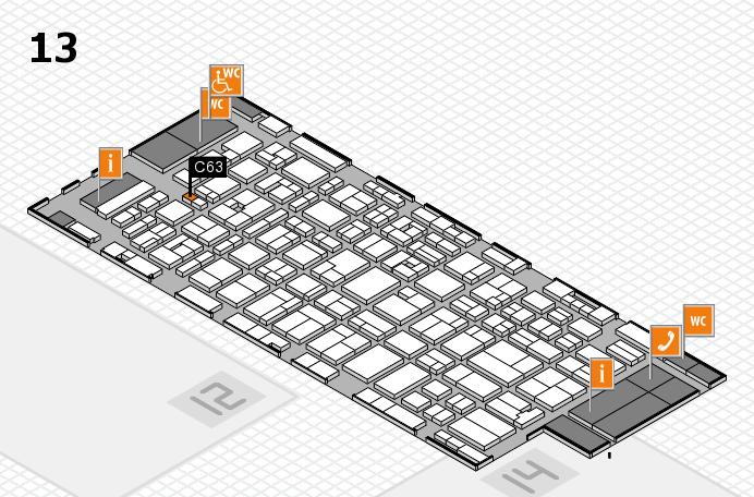 MEDICA 2016 hall map (Hall 13): stand C63