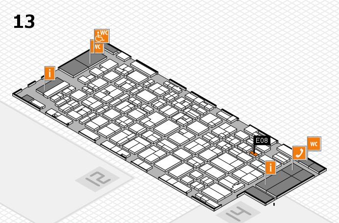 MEDICA 2016 hall map (Hall 13): stand E08
