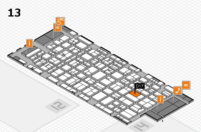 MEDICA 2016 hall map (Hall 13): stand D17