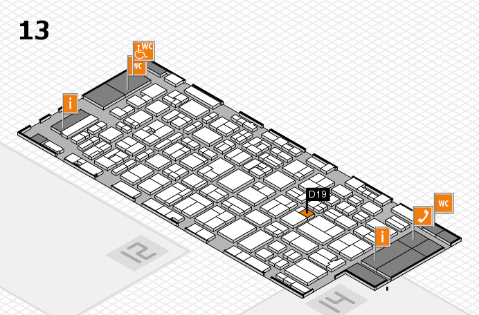 MEDICA 2016 hall map (Hall 13): stand D19