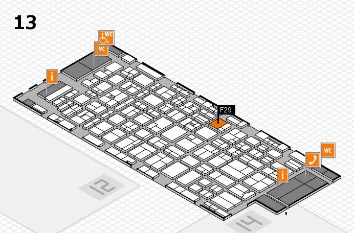 MEDICA 2016 hall map (Hall 13): stand F29