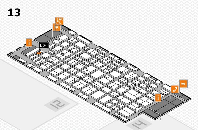 MEDICA 2016 hall map (Hall 13): stand B64