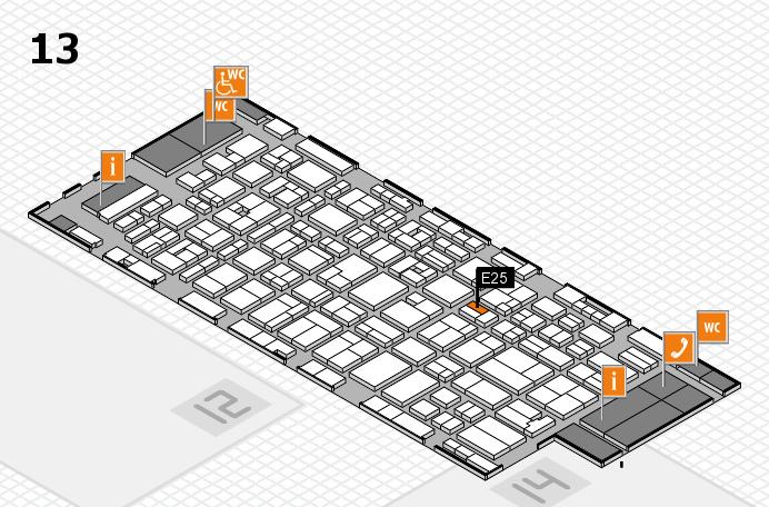 MEDICA 2016 hall map (Hall 13): stand E25