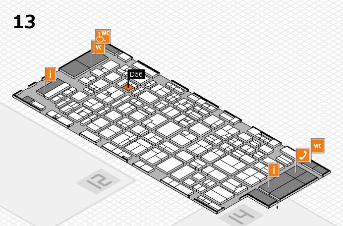 MEDICA 2016 hall map (Hall 13): stand D56