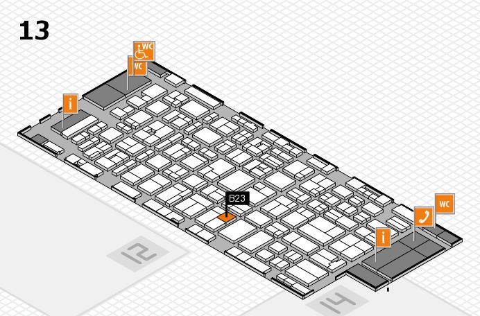 MEDICA 2016 hall map (Hall 13): stand B23
