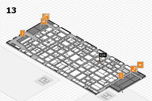 MEDICA 2016 hall map (Hall 13): stand E24