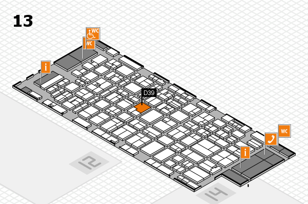 MEDICA 2016 hall map (Hall 13): stand D39