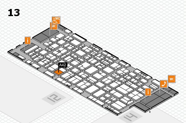 MEDICA 2016 hall map (Hall 13): stand A42