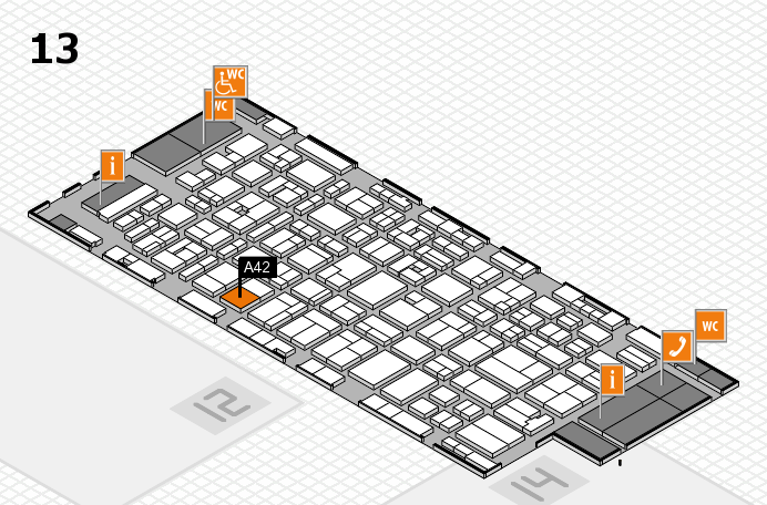 MEDICA 2016 hall map (Hall 13): stand A42