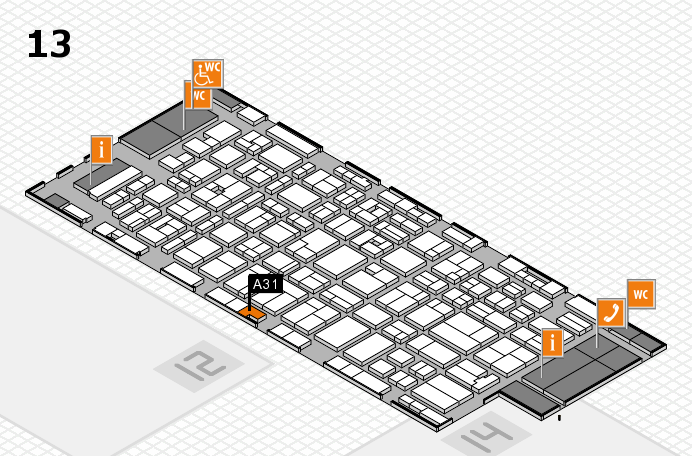 MEDICA 2016 hall map (Hall 13): stand A31