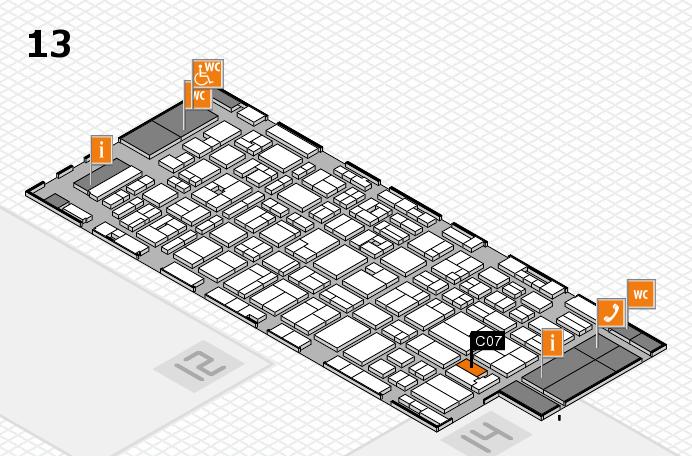 MEDICA 2016 hall map (Hall 13): stand C07